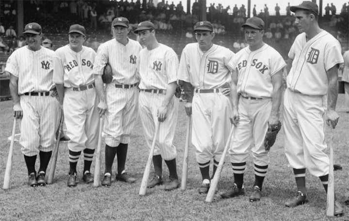 1937 All Star Game Lou Gehrig drives in 4